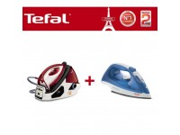 [COMBO DEAL] Tefal GV9061M0 Steam Generator Pro + FV1520 Soleplate Steam Iron