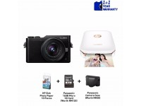 Panasonic Lumix DC-GF9 Mirrorless Camera with 12mm - 32mm Lens Kit with HP Sprocket Printer