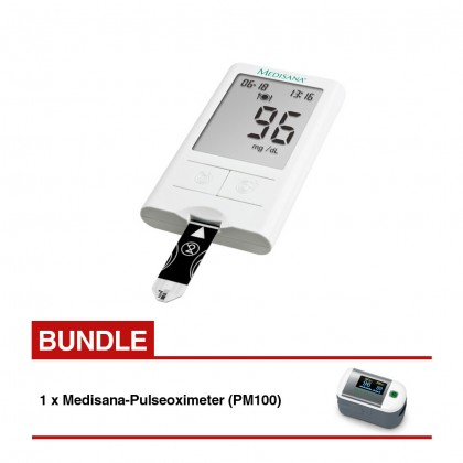 Medisana MediTouch Blood Glucose Monitor Bundle PM100 Pulse Oximeter