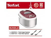 Tefal Rice Cooker Spherical Pot 1.8L RK8105 + K6705 Angle+K6715 Wok Spatula
