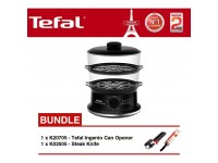 Tefal Convenient Steamer VC1401+K20705 Can Opener+K02505 Steak Knife