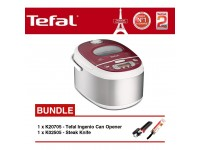 Tefal Rice Cooker Spherical Pot 1.8L RK8105+K20705 Can Opener+K02505 Steak Knife