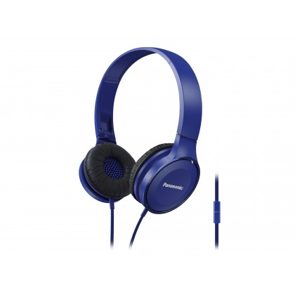 Panasonic RP-HF100M Stereo Headphones (Black/ White/ Blue)