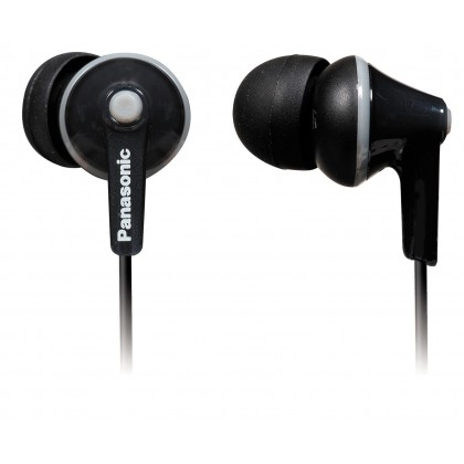 Panasonic RP-TCM125 Stereo Headphones (Black/ White)