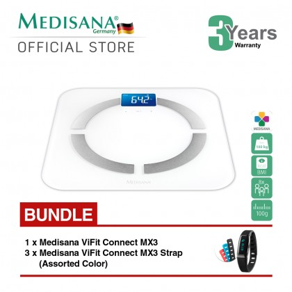 Medisana BS430 Body Analysis Scale Connect Bundle Medisana ViFit MX3 Connect
