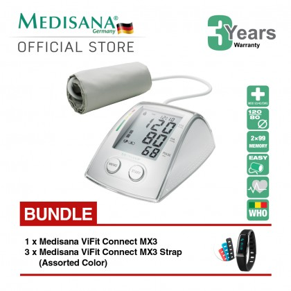 Medisana MTX Blood Pressure Monitor Bundle ViFit MX3 Connect