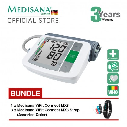 Medisana Upper Arm BU510 Blood Pressure Monitor Bundle ViFit MX3 Connect
