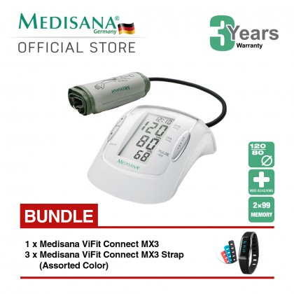 Medisana Upper Arm MTP Blood Pressure Monitor Bundle ViFit MX3 Connect