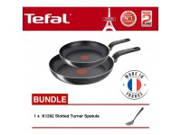 Tefal - B31490 Only Cook Frypan 20cm & 28cm + K1292 Slotted Turner Spatula