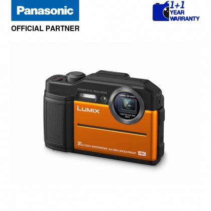 Panasonic Lumix DC-FT7 Waterproof Digital Camera (Orange/ Blue/ Black)