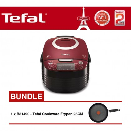 Tefal RK7405 Spherical Pot Rice Cooker + Tefal Only Cook Frypan 28cm