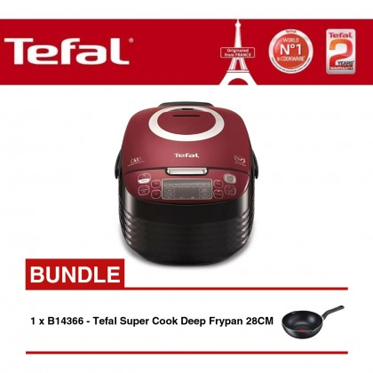 Tefal RK7405 Spherical Pot Rice Cooker+Tefal B14366 Super Cook Deep Frypan 28cm