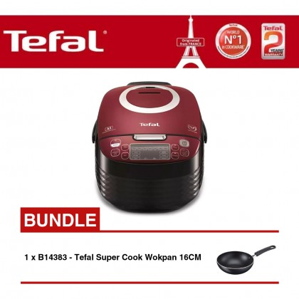 Tefal RK7405 Spherical Pot Rice Cooker + B14383 Super Cook 16cm Wokpan