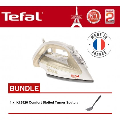 Tefal FV4911 Steam Iron + K12920 Comfort Slotted Turner Spatula