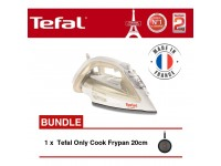 Tefal FV4911 Steam Iron + Tefal Only Cook Frypan 20cm