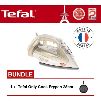 Tefal FV4911 Steam Iron + Tefal Only Cook Frypan 28cm