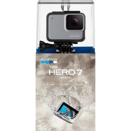 GoPro Hero 7 (White) Free GoPro 3-Way Tripod and GoPro sleeve + lanyard