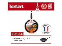 Tefal Cookware Only Cook Frypan 28cm (B31490) + B14302 Super Cook Frypan 20cm