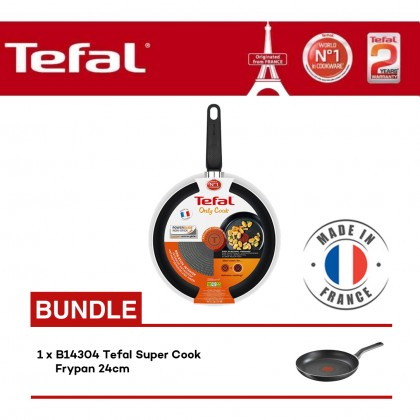 Tefal Cookware Only Cook Frypan 28cm (B31490) + B14304 Super Cook Frypan 24cm