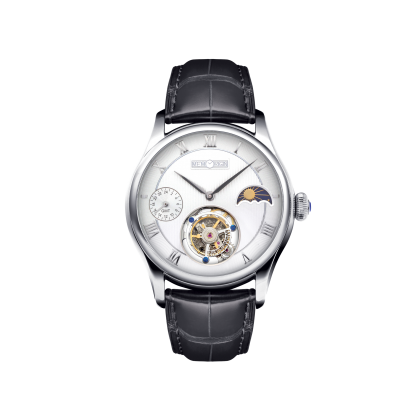 Memorigin Travelers Series Tourbillion Manual Wind Watch (White)