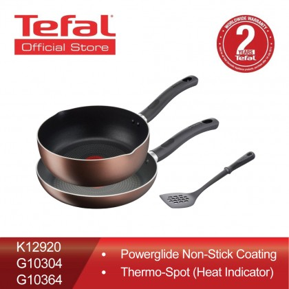 Tefal Super Cook Plus Frypan 24cm + Super Cook Plus Deep Frypan 24cm + Comfort Slotted Turner Spatula